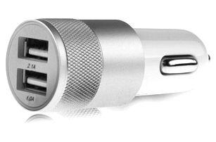 Univerzální auto nabíječka s USB podsvícenými porty – více barev