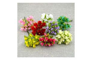 Umělé textilní květiny - 8 barev
