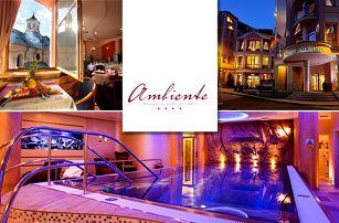 Hotel Ambiente**** v centru Karlových Varů s polopenzí a neomezeným wellness
