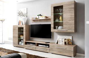 Timber 4, obývací stěna, dub san remo DOPRODEJ