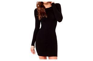 Upnuté mini šaty s dlouhým rukávem - 3 barvy
