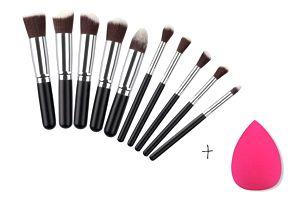 Štětce na makeup barevné - 10 ks