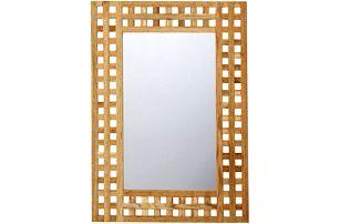 Obdelníkové zrcadlo PORTO, ořech