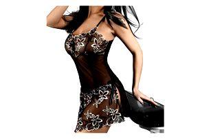 Romantická krajková noční košilka a kalhotky