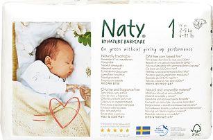NATY NATURE BABYCARE 1 NEWBORN, 26 ks (2-5 kg) - jednorázové pleny