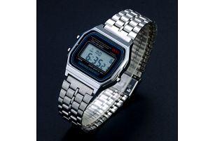 Retro digitální hodinky - stříbrná - dodání do 2 dnů