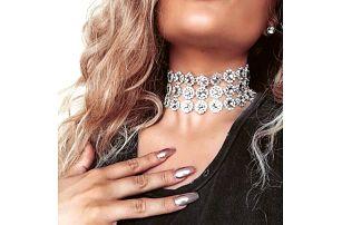 Dámský náhrdelník extravagantní s kamínky