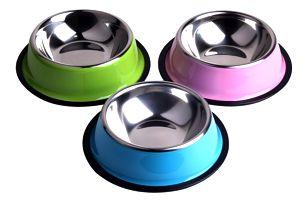 Kovová miska pro psa - mix barev a velikostí