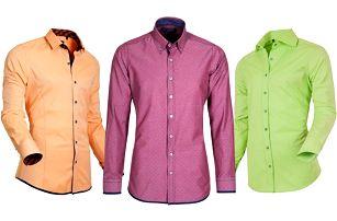 Slim fit košile StyleOver v 31 barvách a vzorech