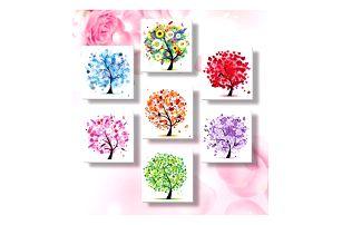 5D obraz 33 x 33 cm - Proměna stromů v roce