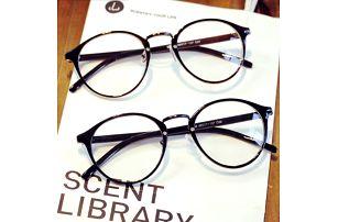 Stylové retro brýle s kulatými obroučky - různé barvy a vzory