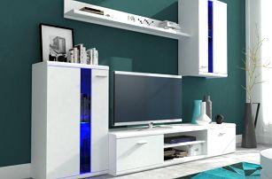 Obývací stěna LITE, bílá