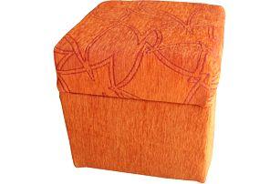 Taburet SANTI, oranžová X552, olše - DOPRODEJ