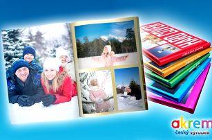 Fotosešit z vlastních fotografií o 40 stranách či fotokniha o 80 až 100 stranách