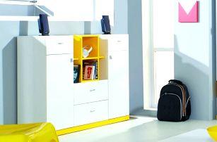 MOBI MO 10 (bílá lesk/žlutá)