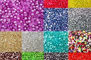 Nepravé perličky ke zdobení - mnoho barev