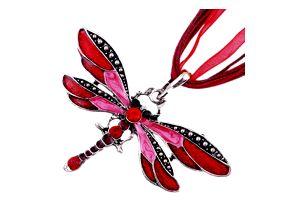 Náhrdelník s přívěskem ve tvaru vážky - 6 barev
