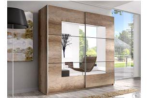 Zrcadlová šatní skříň s posuvnými dveřmi Anael