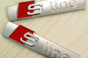 3D samolepka na auto S LINE