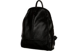 Koženkový ležérní batůžek černá