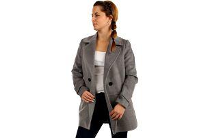 Oversized kabátek na knoflík béžová