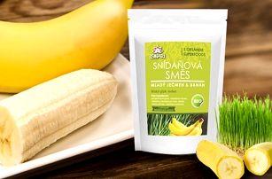 Zdravá snídaňová směs Mladý ječmen - Banán