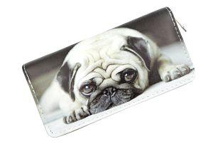 Dámská peněženka s roztomilým mopsem