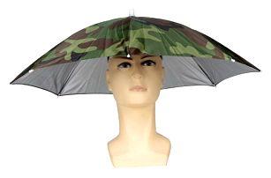 Skládací deštník na hlavu pro rybáře