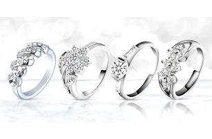 Nádherné dámské prstýnky se zirkony