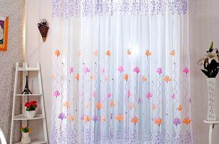 Záclonka s rozkvetlými květy - 2 barvy