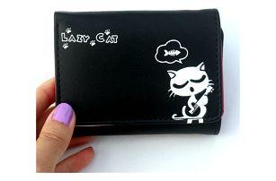 Dámská peněženka s roztomilou kočičkou - různé barvy