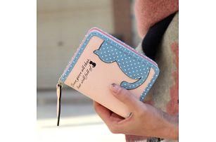 Malá peněženka s kočičkou - 6 barev