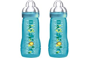 MAM Kojenecká láhev Baby Bottle (2ks) 330 ml, 4m+, modrá