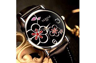 Dámské hodinky s květinami - různé varianty