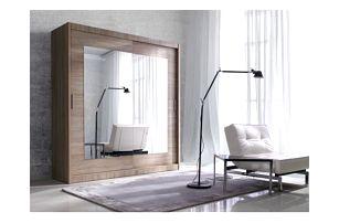 Zrcadlová šatní skříň s posuvnými dveřmi Gerardo 1 - DOPRAVA ZDARMA!