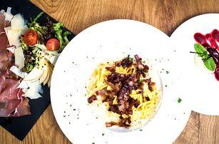 3chodové italské menu ve vyhlášené restauraci