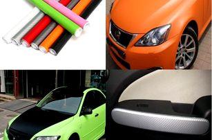 Karbonová folie na auto - 200 x 40 cm