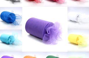 Organza šerpa - 15 barevných provedení