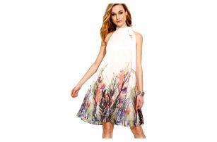 Lehoučké módní šaty s květinovým motivem