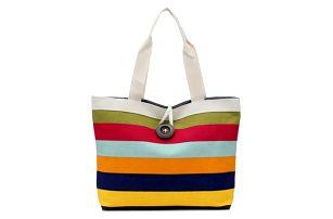 Dámská kabelka s barevnými pruhy - 4 varianty