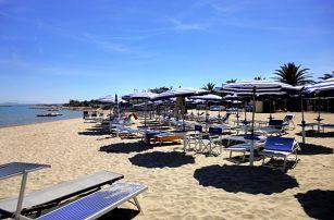 Itálie, Martinsicuro na kraji sezóny: 8 dní pro 1 osobu s plnou penzí, mobilhomy u pláže