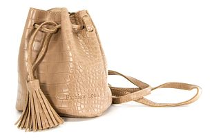 Fashion Icon Kabelka Crocodile Skin bucket bag motiv krokodýl