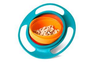 Nepřevrhnutelná miska pro děti - 3 barvy