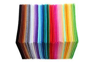 Sada polyesterových čtverců pro domácí tvoření dekorací - 40 ks