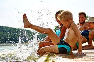Léto v Hotelu Dolphin**** s výhledem na Sluneční jezera u Bratislavy a vstupem do Aquaparku