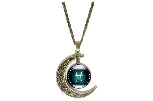 Vintage náhrdelník s přívěskem dle znamení zvěrokruhu - ryby - dodání do 2 dnů