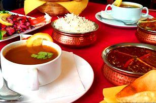 Tradiční indické menu pro dvě osoby