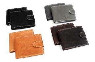 Stylová pánská peněženka Wild z broušené hovězí kůže