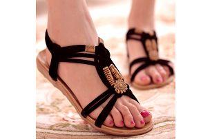 Dámské letní sandálky v ležérním bohémském stylu