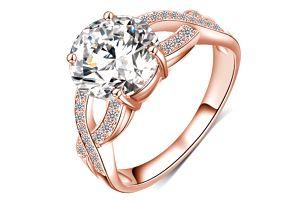 Designový třpytivý prstýnek ve více barvách